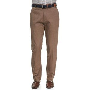 Peter Millar Mens Raleigh Washed Twill Pants Brown